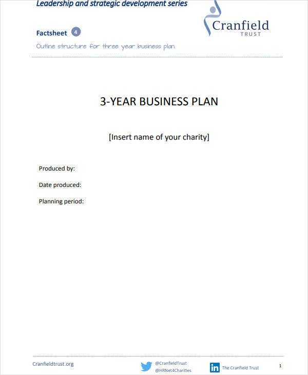3 year strategic fundraising business plan