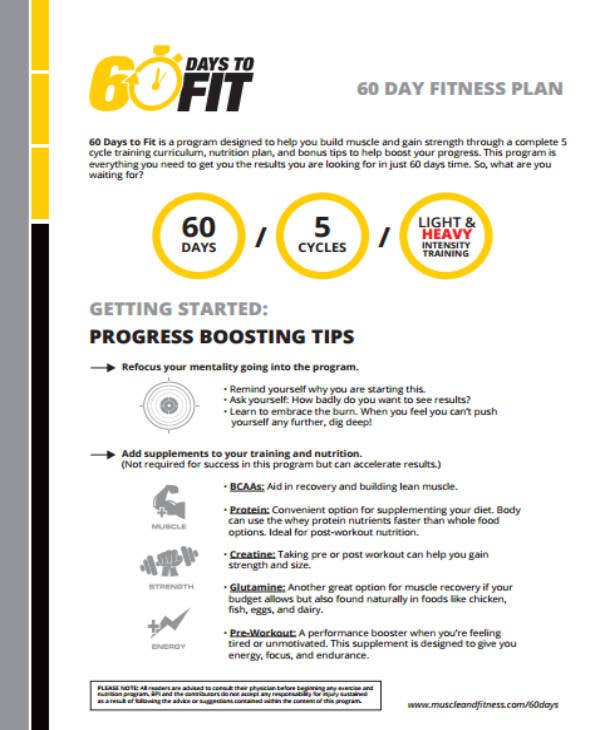 60 weight loss plan