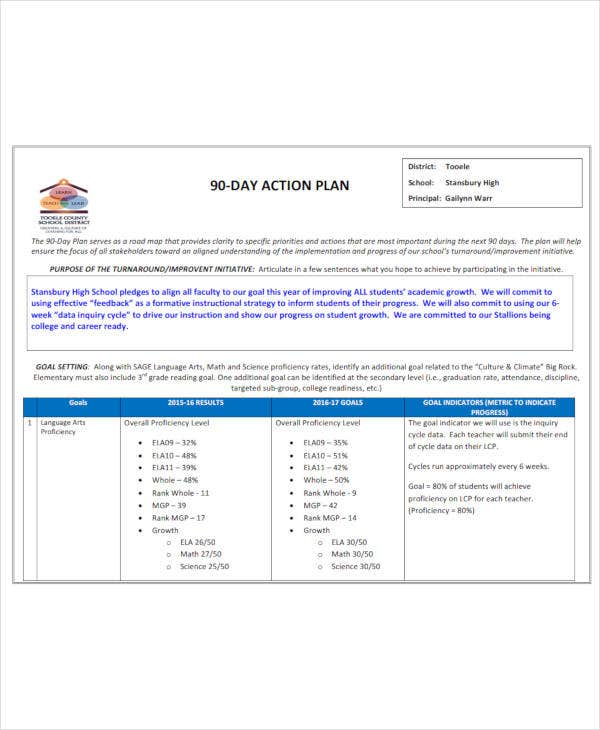 90 day action plan1