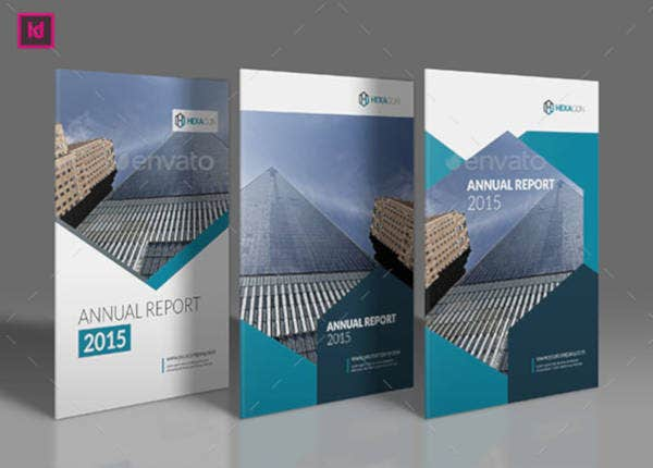 A4 Annual Report Cover Design Template