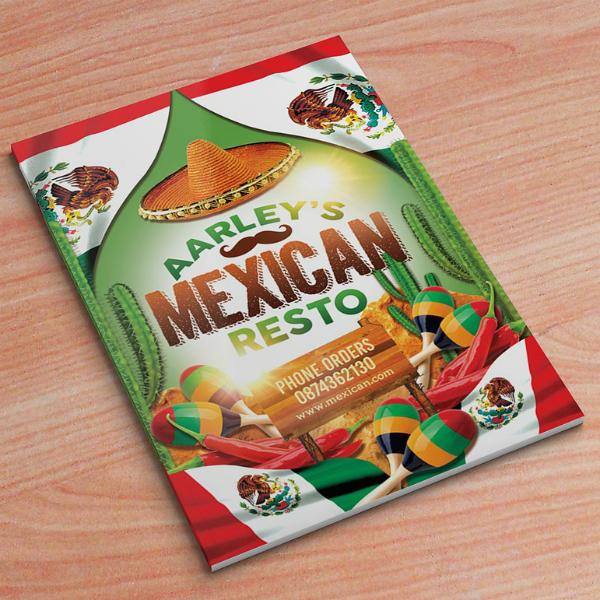 Aarley Mexican Food Menu Template