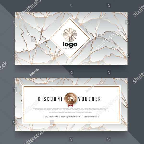 Abstract Hotel Voucher Card Template