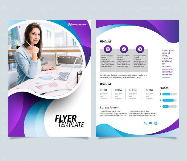 abstract modern business flyer template