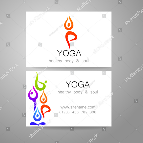 abstract yoga trainer business card template