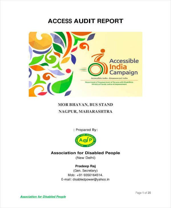 Access Audit Report Template