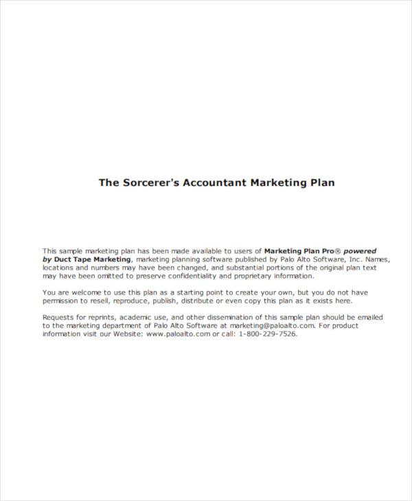 accountant marketing plan example