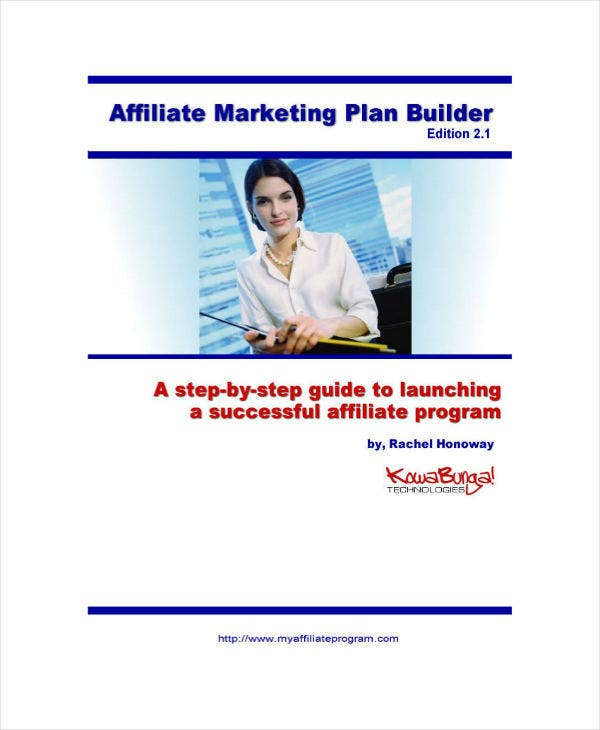 affiliate marketing plan builder