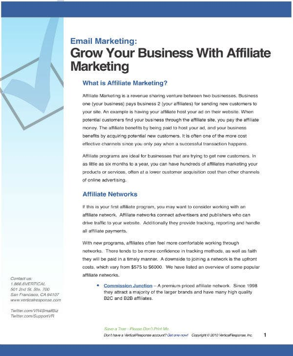 affiliate marketing strategy plan 1