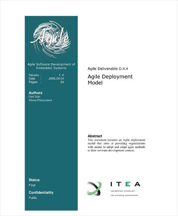 Agile Deployment Model Sample