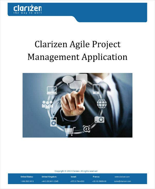 agile project management application sample