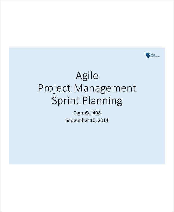 Agile Project Management Sprint Planning