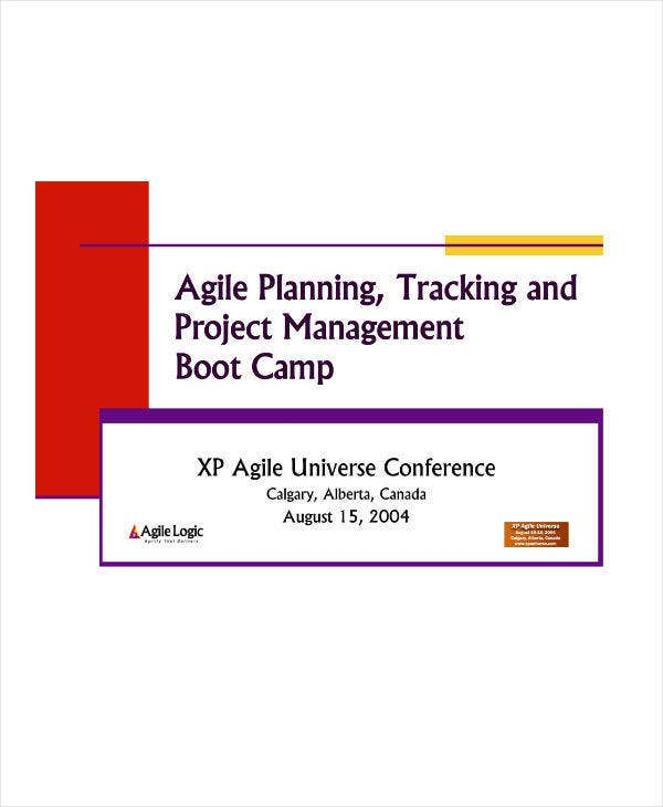 agile project planning sample