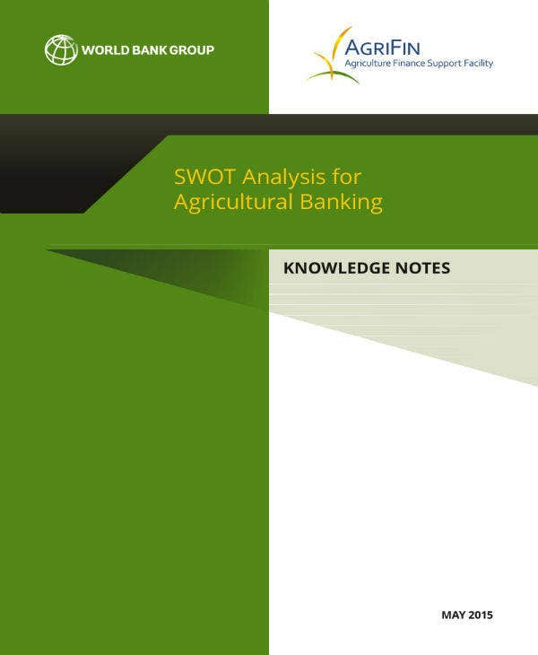 agricultural banking swot analysis example