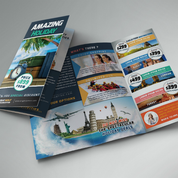 Amazing Holiday Travel Brochure Template