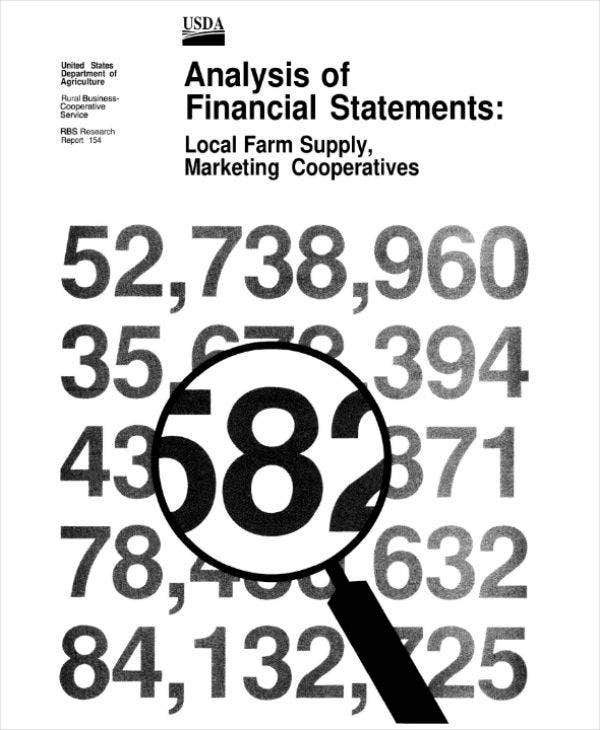 analysis of financial statements example
