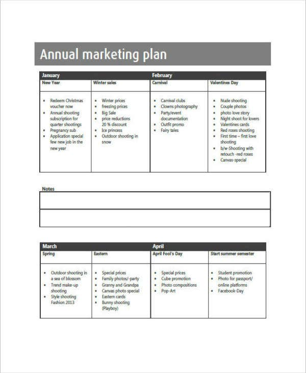 Annual Marketing Action Plan