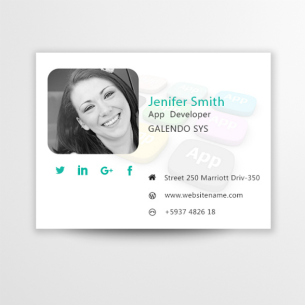 App Developer Email Signature Template