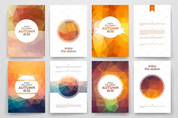 Autumn Brochure Design Set