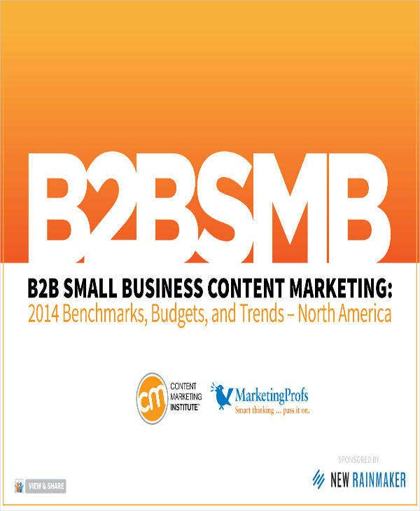 B2B Marketing Business Plan for Content Writing