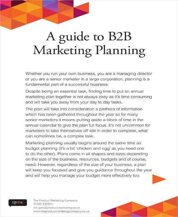 B2B Marketing Planning Guide