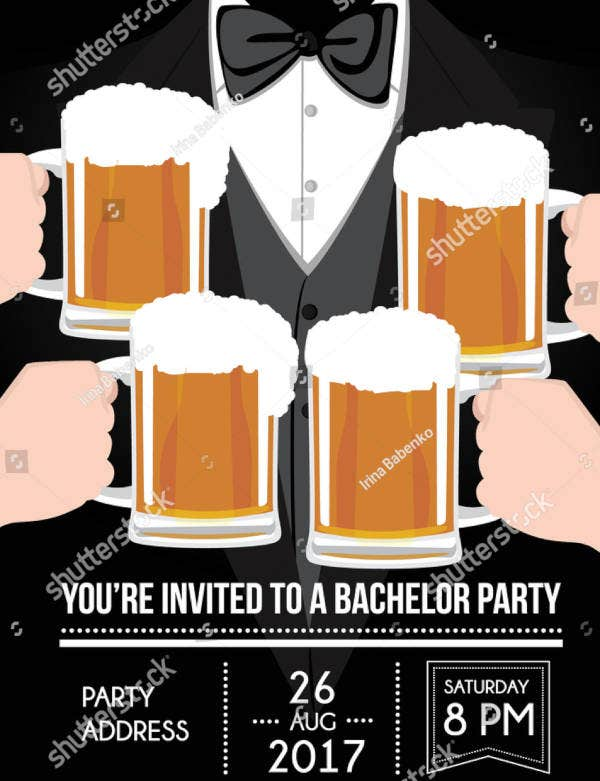 Bachelor Party Sample Invitation