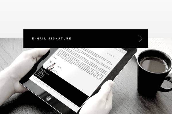 black professional email signature templates