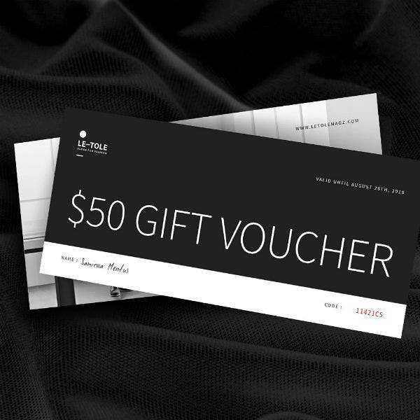 black and white gift voucher card indd template