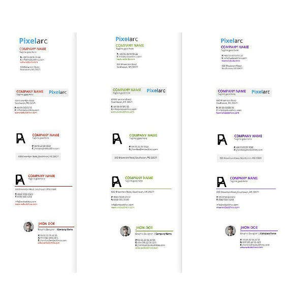 blank marketing manager email signature template
