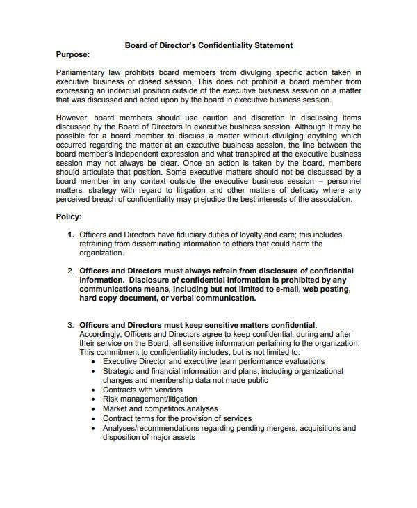 11+ Meeting Confidentiality Agreement Templates - PDF | Free ...