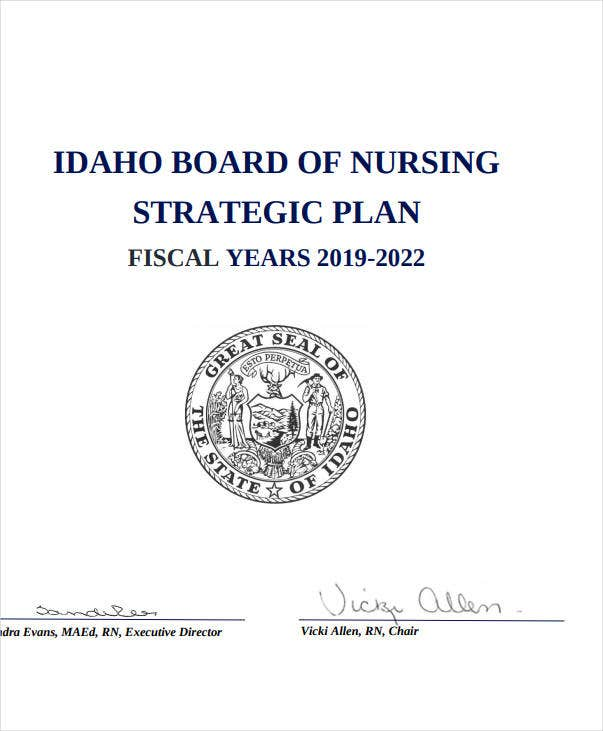 board of nursing strategic plan