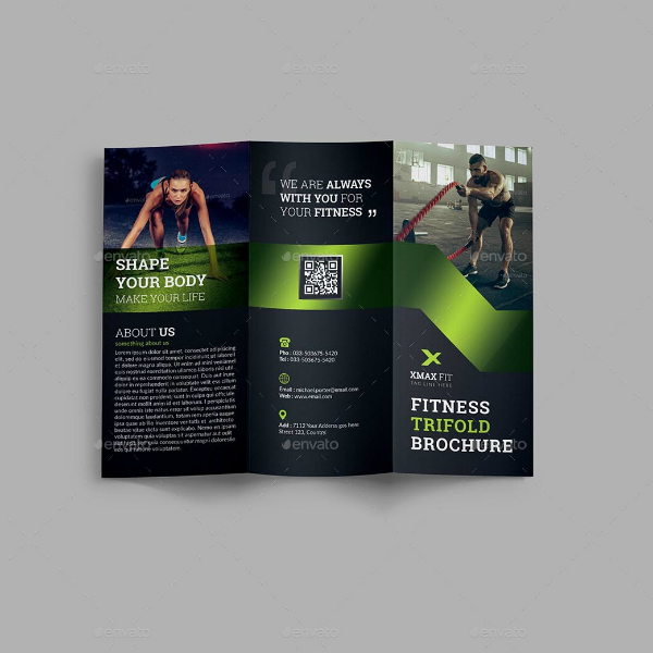 Body Shape Fitness Brochure Template