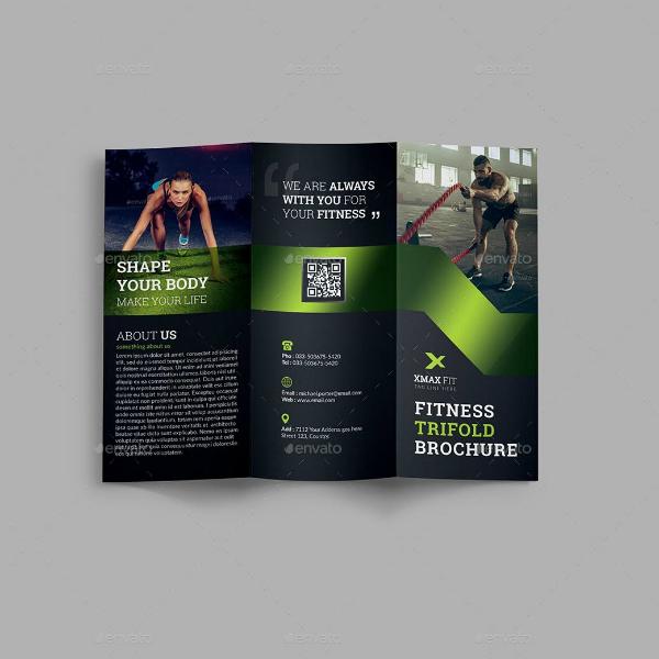 body shape fitness brochure template