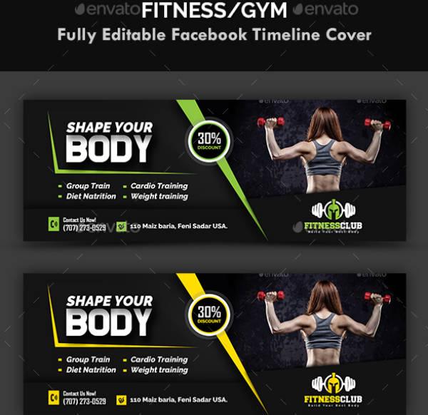 Body Shape Gym Cover Design