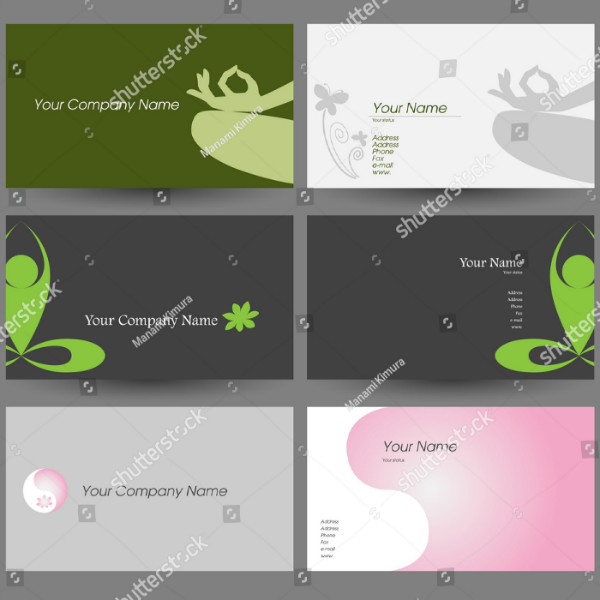 Bundled Yoga Trainer Business Card Template
