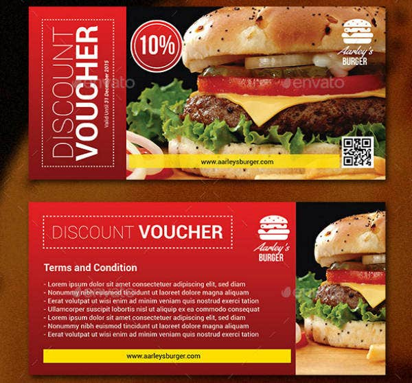 Burger Cafe Discount Voucher Example