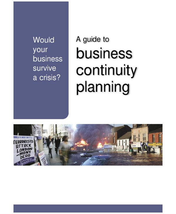business continuity plan guideline and sample