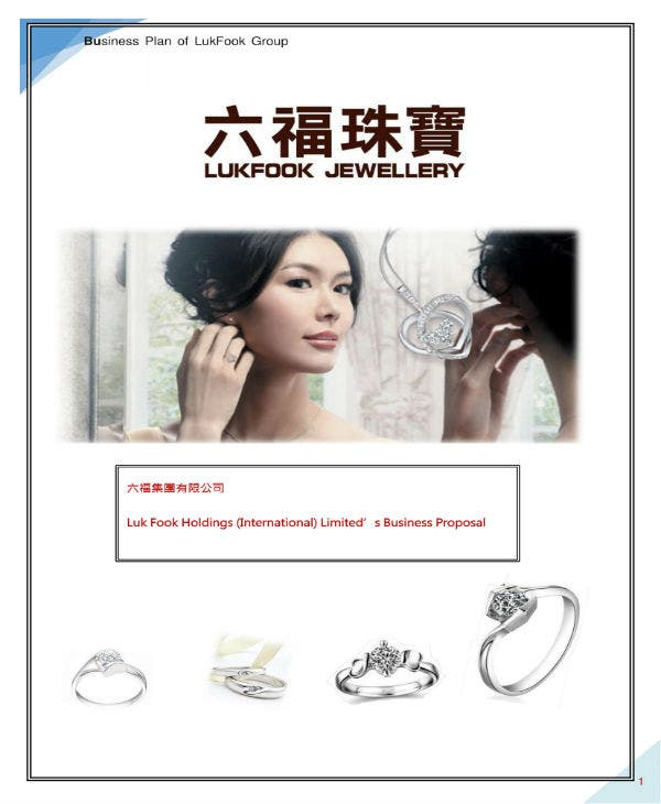 business plan for lufcook jewelry 01
