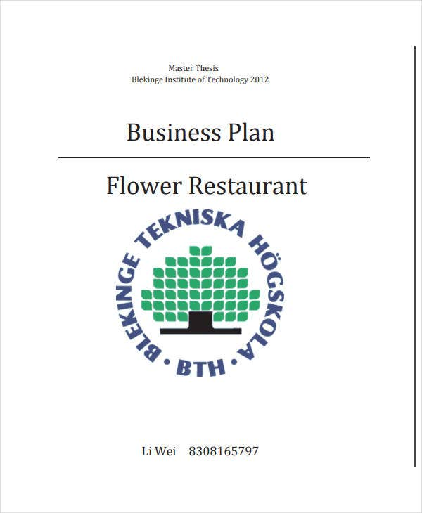 business sales plan for restaurant