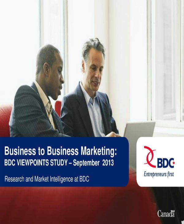 Business to Business Marketing Plan Template