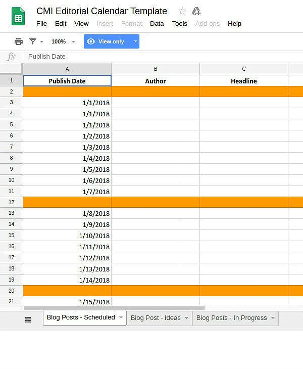 cmi editorial calendar template