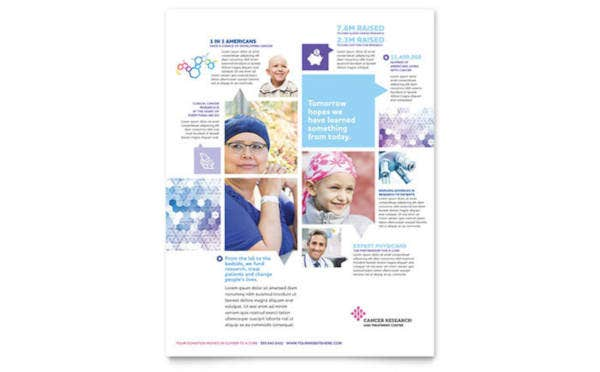 cancer treatment flyer template
