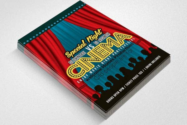 cinema-night-show-flyer