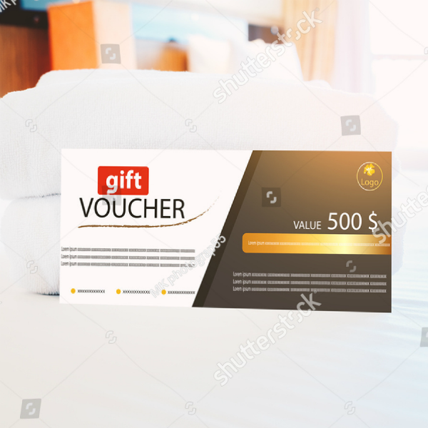 Classy Hotel Gift Voucher Template