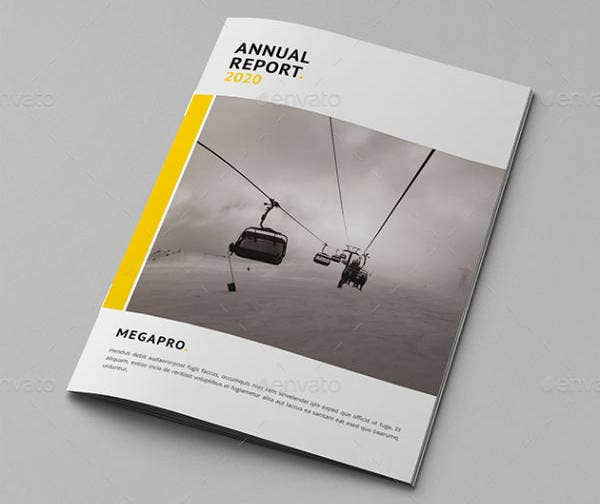 Clean Annual Report Cover Design