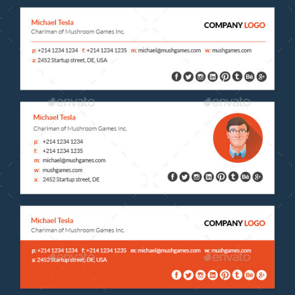 clean company email signature template