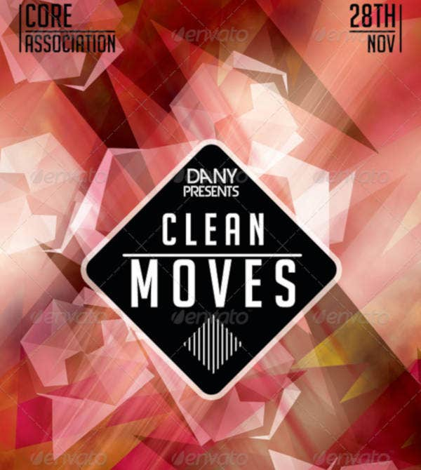 clean-moves-polygonal-flyer-template