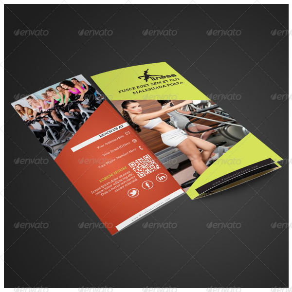 Clean Multipurpose Fitness Brochure Template