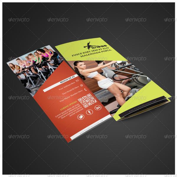 clean multipurpose fitness brochure template