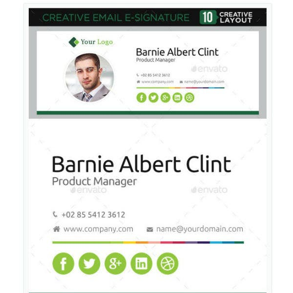 clean product manager email signature template