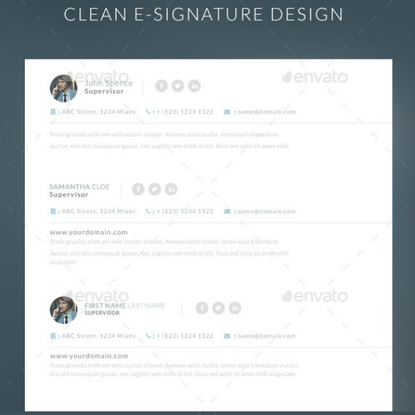 Clean Simple Email Signature Template